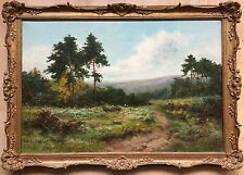 Daniel Sherrin 1869–1940 oil painting on canvas signed gilt frame