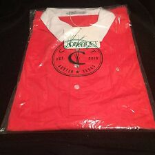 *MINT* CRIQUET NWT Short Sleeve Pocket Polo Shirt Red/White Collar Size XL