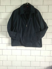 MENS 90'S URBAN VINTAGE RETRO NAVY BLUE TOMMY HILFIGER JACKET COAT UK XXL
