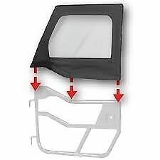 Bestop HighRock Element Upper Doors 97-06 Jeep Wrangler TJ LJ Black Diamond