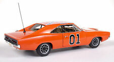 1:18 AutoWorld Authentics DUKES OF HAZZARD Dodge 1969 Charger Generale Lee amm964