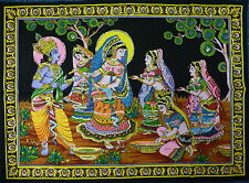 Indian Radha Krishna Holi Rass Sequined Wall Hanging * Fair Trade * Large