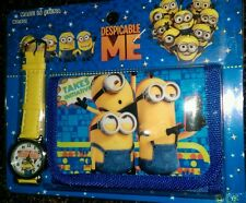Minions Children's Watch Wallet Set For Kids Boys Girls Christmas Gift