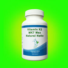 VITAMIN K2 MK7 NATURAL NATTO HIGH STRENGTH 100mcg Vegetarian 60 Capsules