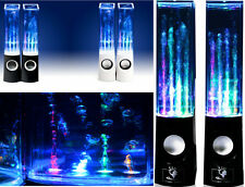 Coppia casse 2.1 con getti d'acqua,led,sound control.Altoparlanti luminosi a led