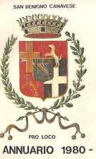 SAN BENIGNO CANAVESE PRO LOCO ALMANACCO 1980 ORARIO SATTI FERROVIA AUTOLINEE
