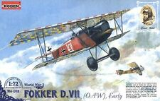 Fokker D.VII OAW Early    German Biplane          world war 1         1/72 Roden