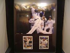 Alcides Escobar Autograph certified plaque 11 x 14 with 2 cards KC Royals