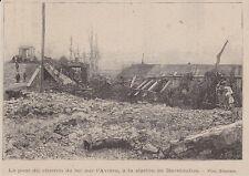 1895  --  LE PONT DE CHEMIN DE FER SUR L ARVIERE DETRUIT DARNIEULLES   3J008