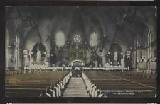 POSTCARD YOUNGSTOWN OHIO IMMACULATE CONCEPTION CHURCH INTERIOR VIEW 1907