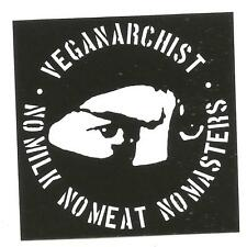 300 Veganarchist Aufkleber stickers Punk HC sXe Vegan Animal Liberation Tofu ALF