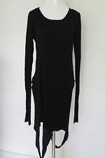 Morphine Generation Black Goth Burning Man Double Layer Cut- Out Dress L GC