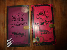 Pair of books The Girl's Guide to Werewolves and Vampires Bad Boys Horror Karg