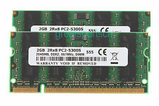 4GB 2x 2GB DDR2 667MHz 2RX8 PC2-5300 200pin SODIMM Laptop Memory For Intel RAM