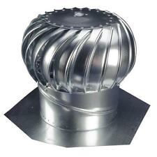 Attic Wind Turbine Industrial Roof Vent Exhaust Fan Ventilation Rotary Steel 12""