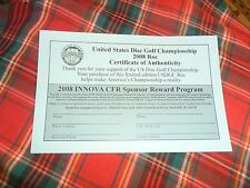 2008 USDGC ROC CERTIFICATE OF AUTHENTICITY Paper Form Only ! Disc Golf
