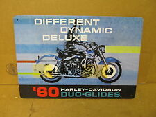 1960 Harley Davidson Duo-Glide Motorcycle Sign Tin Reproduction 2001   S56