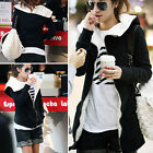 Hot Women Long Sleeve Zip Up Coat Winter Hoodie Tops Fleece Jacket 2Colors 4Size