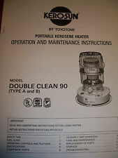 KERO-SUN Toyotomi,Toyostove Double Clean DC 90 Owners Manual (Parts/Operation)