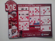 2016-2017 DETROIT RED WINGS MAGNETIC SCHEDULE FAREWELL SEASON AT THE JOE - NEW