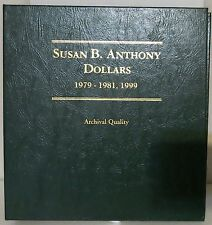 SUSAN B. ANTHONY DOLLARS 1979-1981, 1999 COIN COLLECTOR ALBUM - NEW - LITTLETON