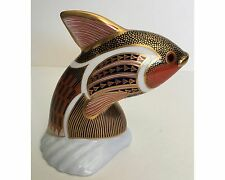 Royal Crown Derby Imari Tropical Fish Guppy Paperweight