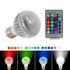 E27 9W RGB Bunte LED Birne 16 Farbwechsel Lampe Licht mit 24 Key Fernbedienung