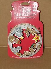 YANKEE CANDLE FROSTED GINGERBREAD MAN ILLUMA-LID NIP RETIRED VHTF