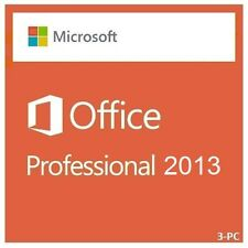 Microsoft Office 2013 Professional Full |Retail Media| 3-USER
