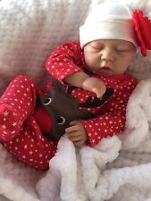 "REBORN DOLL BABY GIRL SCARLETT REALISTIC 20""  REAL LIFELIKE SUCKS HER THUMB!"