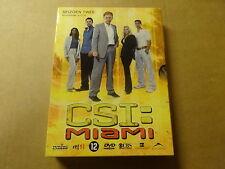 3-DISC DVD BOX / CSI: MIAMI - SEIZOEN 2 - AFLEVERINGEN 2.1 - 2.12 ( DEEL 1 )