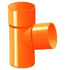 GIUNTO T TUBI DERIVAZIONE RACCORDI IN PVC COLORE ARANCIO X EDILIZIA DIAMET 80 mm