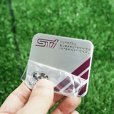 STI  CAR STICKER badge For subaru Forester XV Impreza Legacy Outback Tribeca BRZ