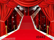 Thin Vinyl photography backdrop RED CARPET background studio props 7x5ft VD442