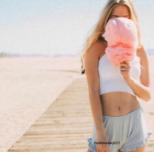 Brandy Melville high waisted Baby Blue cotton vodi shorts NWT OSFM