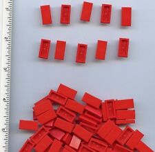 LEGO x 67 Red Tile 1 x 2 with Groove NEW