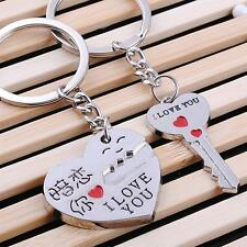 I Love You Heart Arrow Key Couple Key Chain Ring Keyring Keyfob Lover Xmas Gift