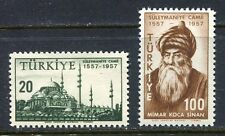 30898) TURKEY 1957 MNH** Mosque of Suleiman 2v.