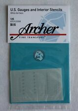 Archer 1/35 US Vehicle Instruments and Interior Stencils (White) AR35209W