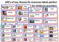 childminder toy box resource labels ideal for toys games resources themes etc