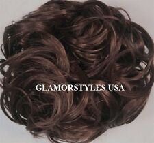 Brown Scrunchie Elastic Hairpiece Scrunchy Hair Piece Extension Ponytail