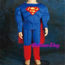 Muscle Superman Superhero Kid Costume Cosplay HALLOWEEN Party Size 4T-5T FC006B