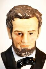 Lefton bisque porcelain china hand painted Lincoln bust figurine pat  KW1114