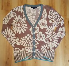 Boden Floral Striped Cardigan. Size 12