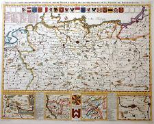 PREUSSEN NOUVELLE CARTE DES DIFFERENTS ETATS DU ROI DE PRUSSE CHATELAIN 1720