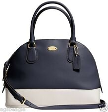 Coach Bag F34491 Cora Domed Satchel in Bicolor Midnight White Agsbeagle COD