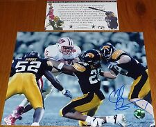 IOWA HAWKEYES Chad Greenway 18 Signed 8x10 PHOTO CG HOLOGRAM Legends COA Vikings