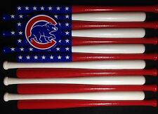 Chicago Cubs Custom Baseball Bat Flag