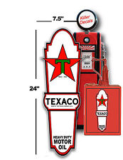 "(TEXA-LUB-1) 24"" X 7.1"" TEXACO LUBSTER FRONT DECAL OIL CAN / GAS PUMP 2"