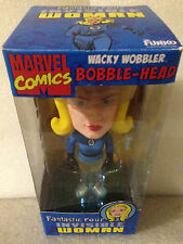 FUNKO MARVEL FANTASTIC 4 INVISIBLE WOMAN CHASE PIECE WACKY WOBBLER BOBBLE HEAD